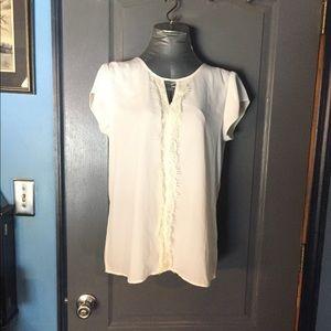 Express Eyelash lace sleeveless blouse